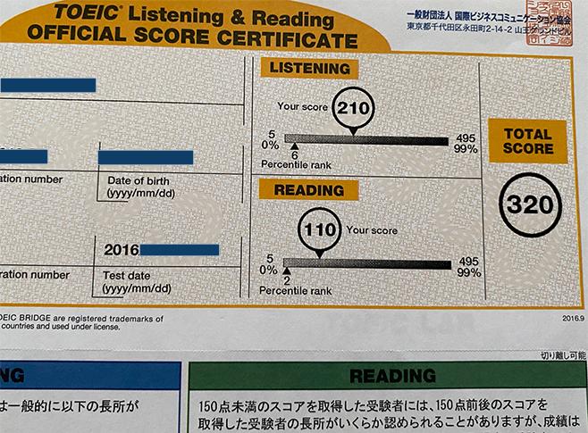 初めての英会話スピーキングテストの結果と、私の語学検定碌 TOEIC